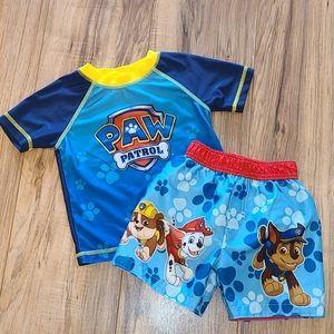 Paw Patrol Swim Trunks & Swim Shirt